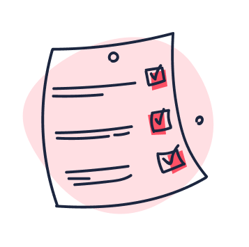 Red papersheet icon
