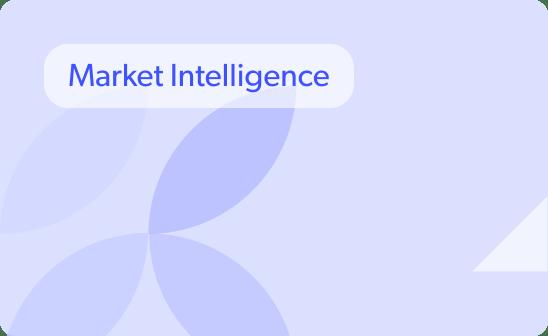 Market Intelligence blue background
