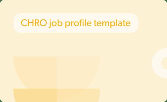 CHRO job profile template preview