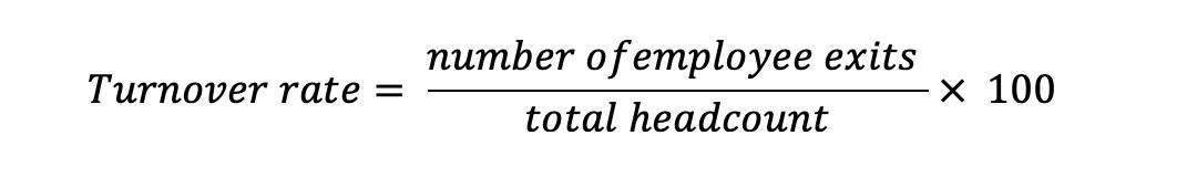 Turnover rate formula