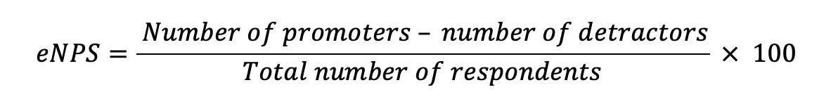 eNPS score formula